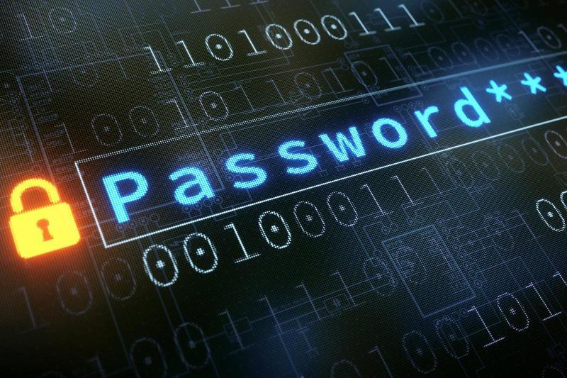 Image saying password