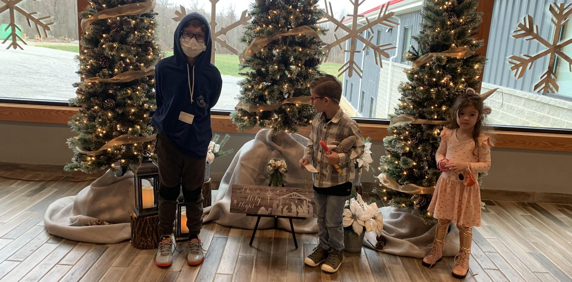 Children in holiday attire.