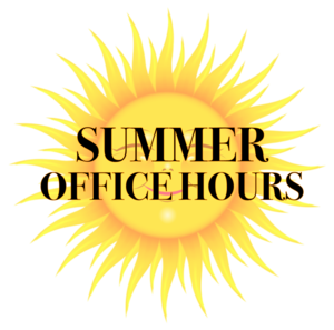 2019 Summer Office Hours
