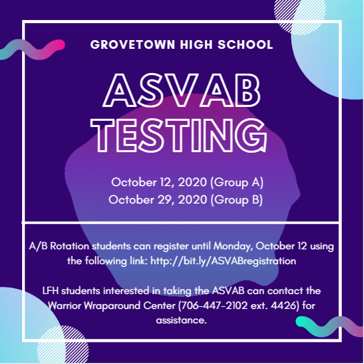 ASVAB Testing - Fall 2020 Featured Photo