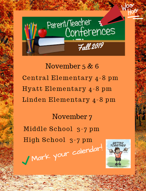 FALL 2019 PARENT TEACHER CONFERENCES Thumbnail Image