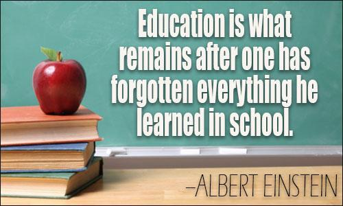 Albert Einstein, Education remains after school