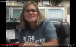 principal at her desk