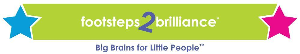 Footsteps2Brilliance logo featuring two stars