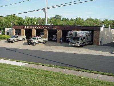 Pennington Volunteer Fire Company trucks in front of station