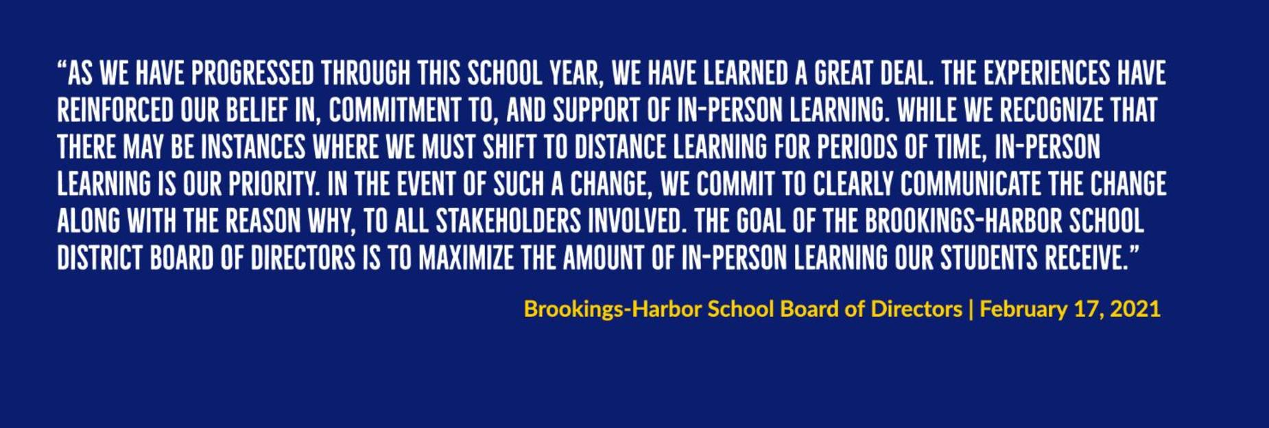 school board statement feb 2021