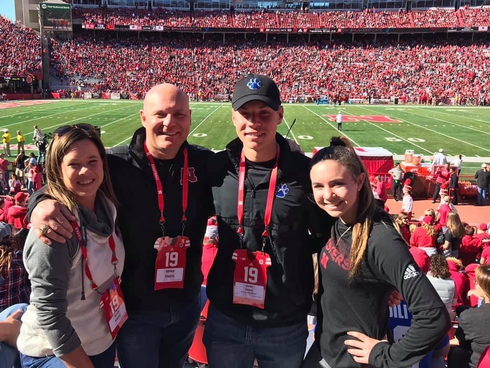 Family picture at Husker game