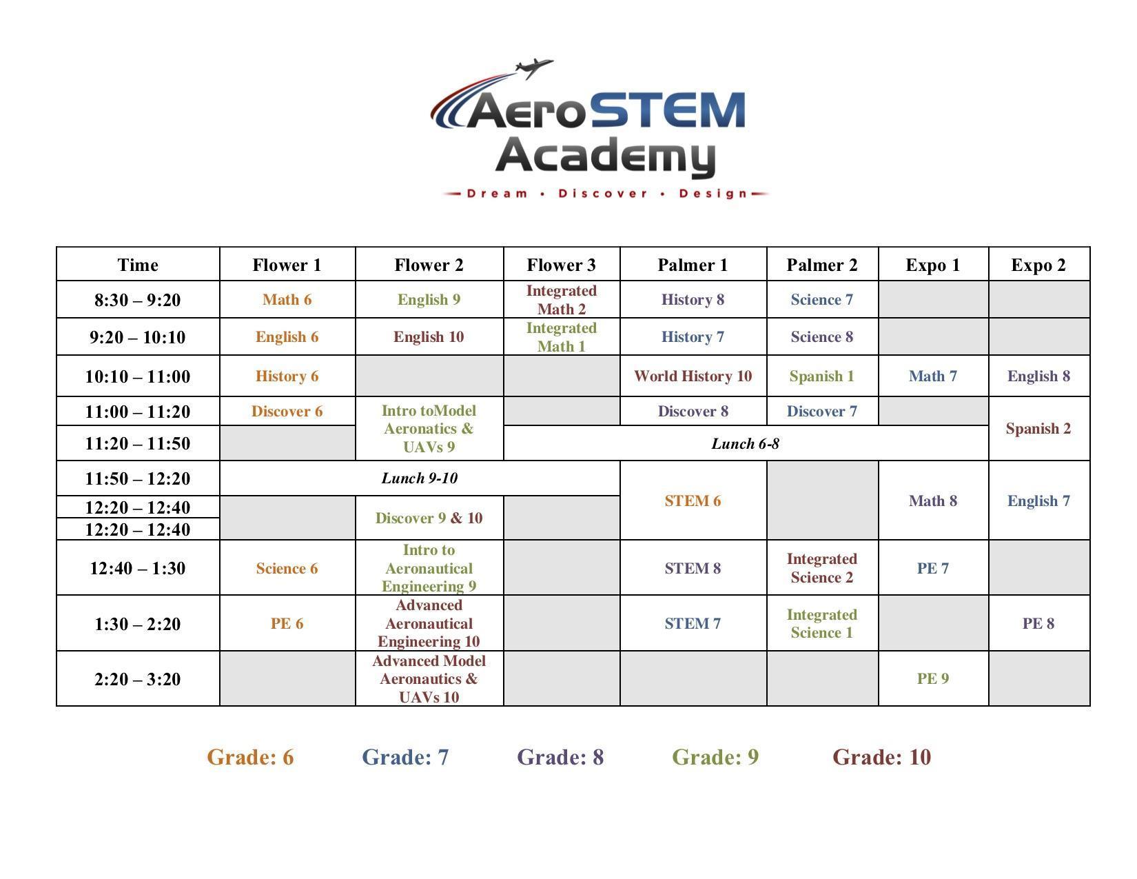 2019 - 2020 Schedule