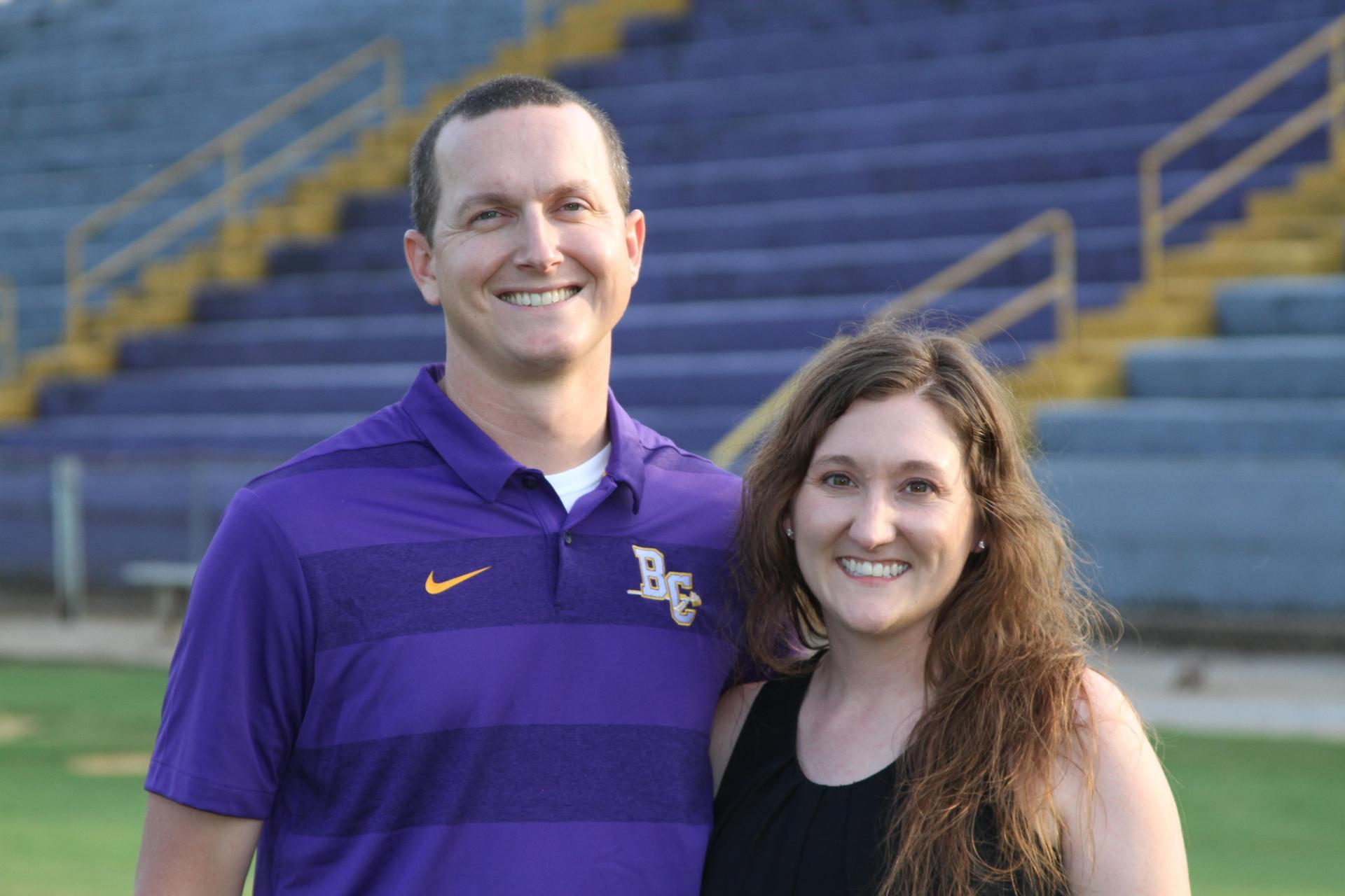 Philip Peek, Head Coach with wife, Stephanie