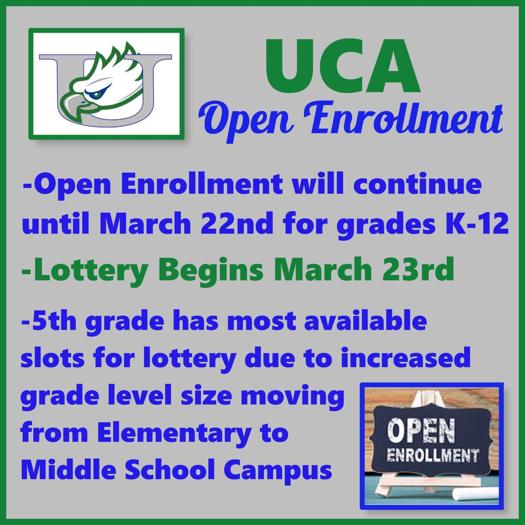 Open Enrollment will continue until March 22nd for grades K-12 Image