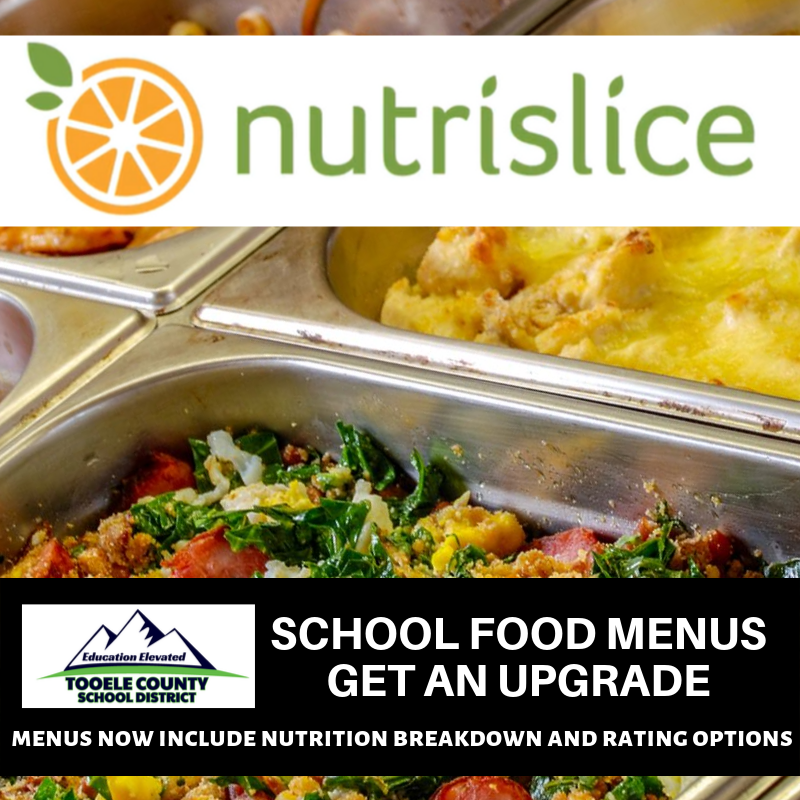 graphic of Nutrislice. a software program for school menus.
