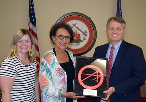 Pictured: Cama Watts (left), Linda Capps (center), Bob Perry (right)