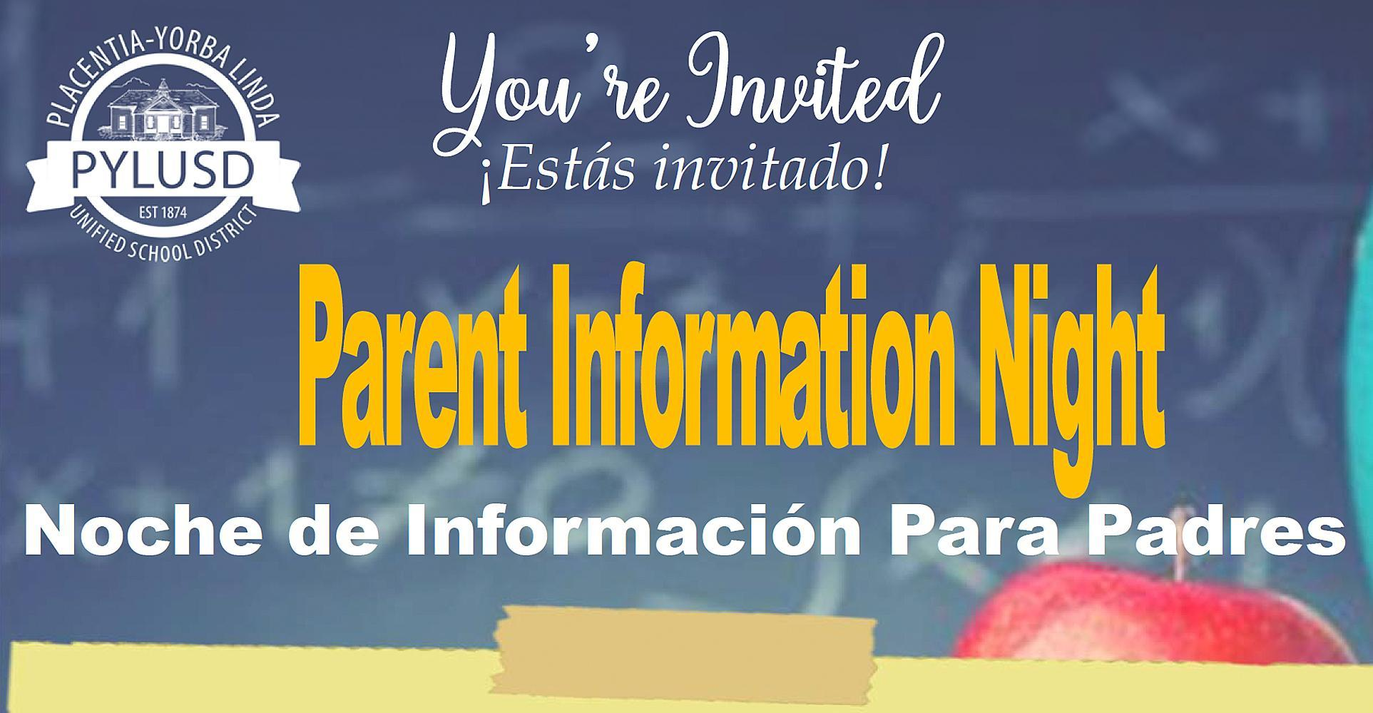Title I Parent Information Night on January 20 at 6:00 PM