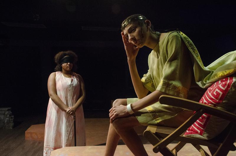 Students perform in Antigone