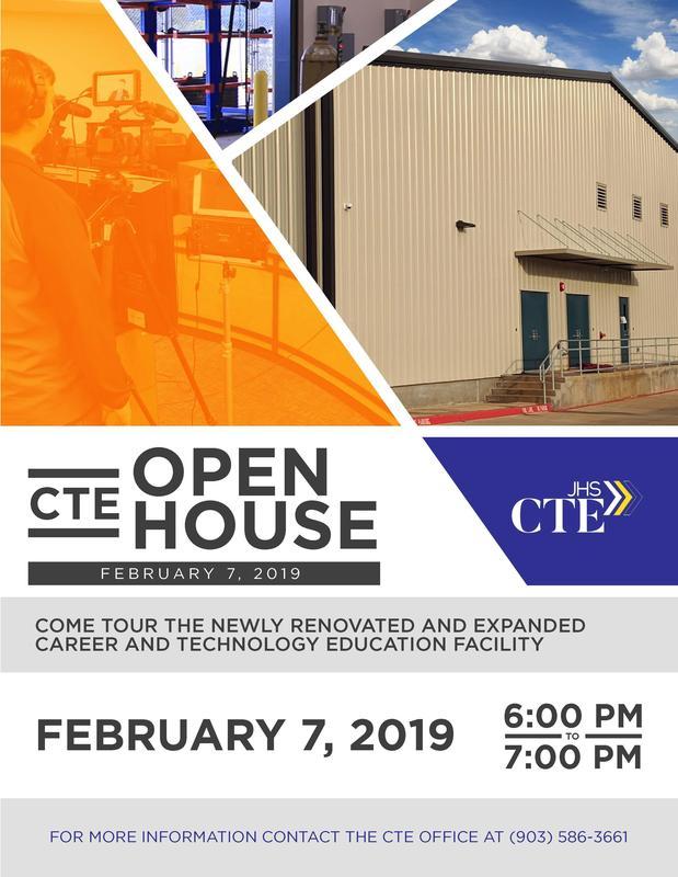 Flyer for Open House Invitation for CTE