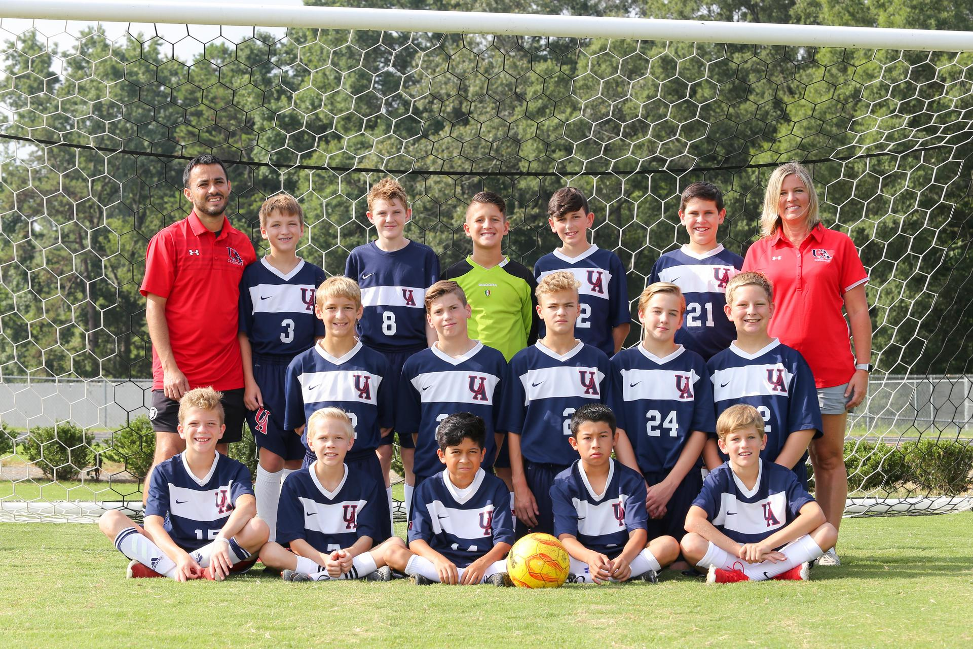 2018-19 MS Boys Soccer Team