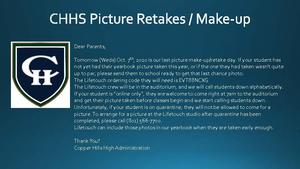 Picture Retakes October 7th