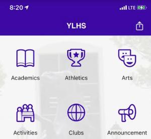 YLHS App screen