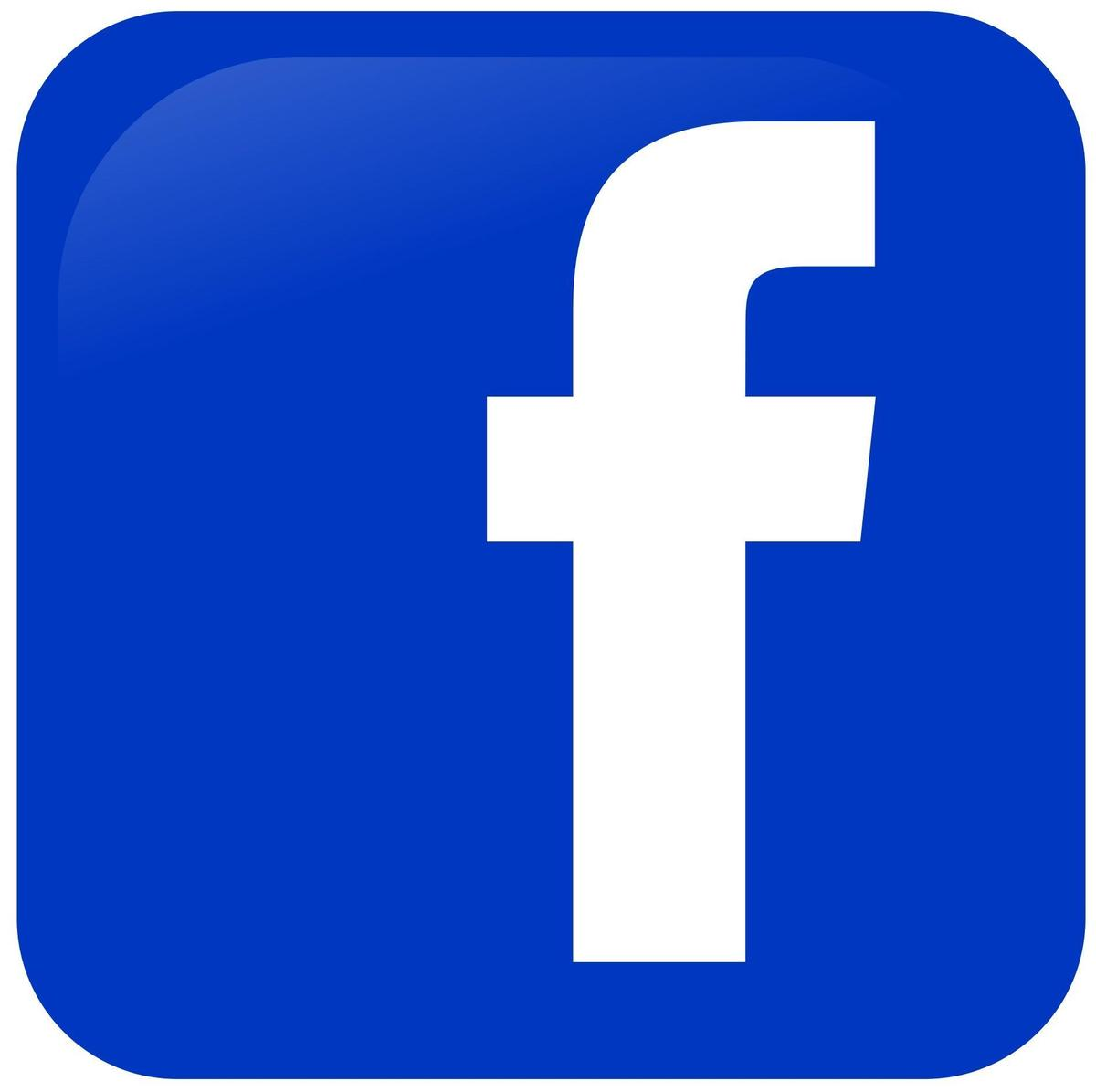 "Facebook Logo: Blue square with a White letter ""F"""