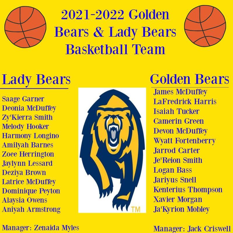 2021 Golden Bear Basketball Team
