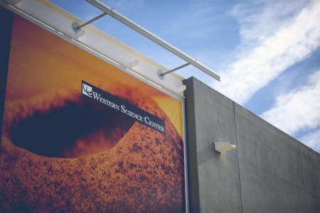 Western Science Center banner.