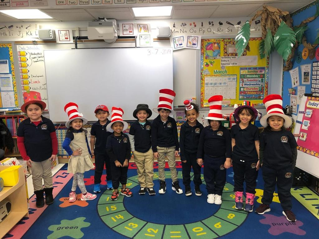 Ms. Sosas Kids wearing crazy hats