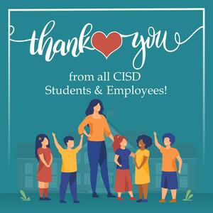 thank you from CISD Students & Employees