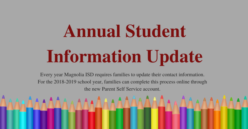 Annual Student Information Update Icon