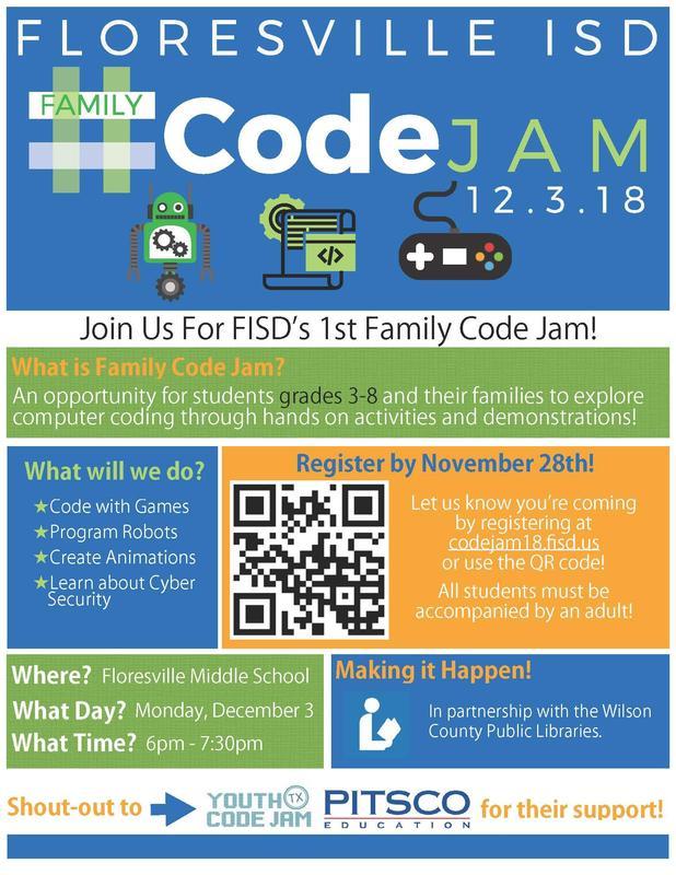 FISD Family Code Jam Featured Photo
