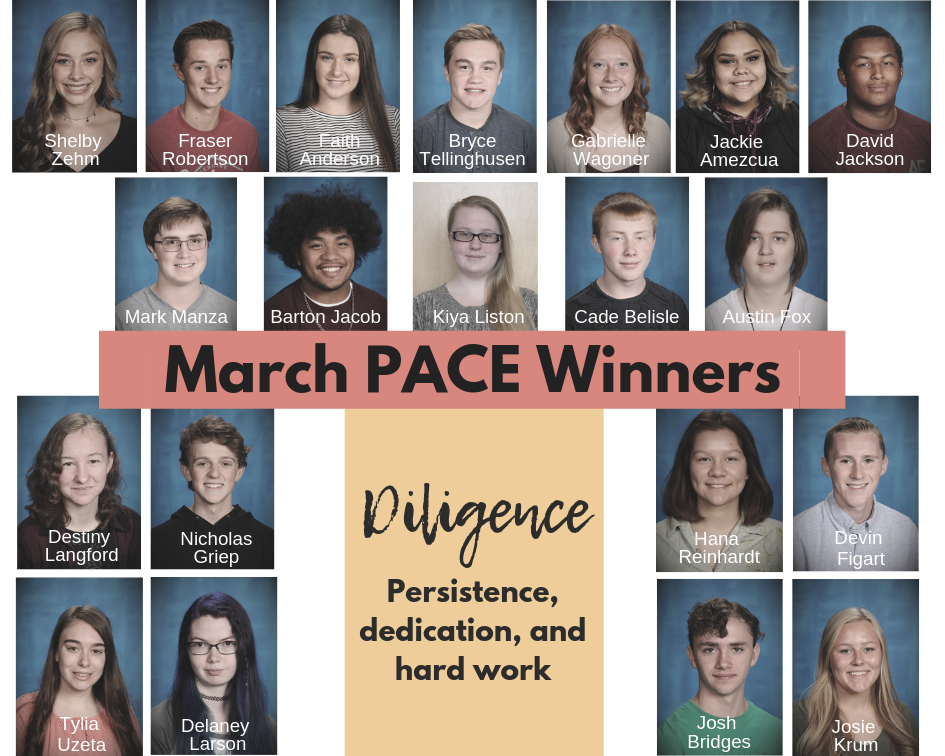 March PACE Winners