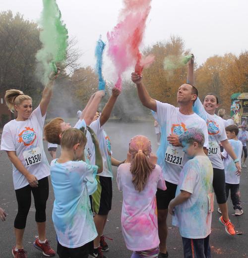 Pleasant View Elementary School hosts a 5K Color Run each year.