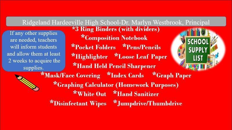 RHHS School Supply List Featured Photo