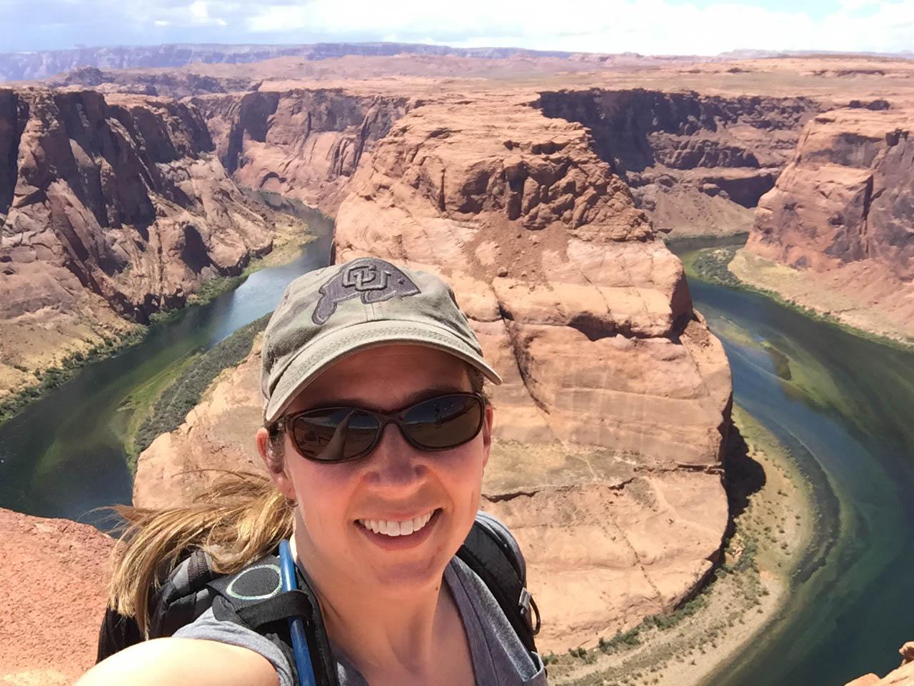 In front of Horsehoe Bend in Arizona