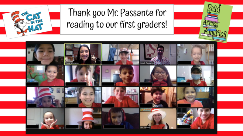 Zoom class with read across America border