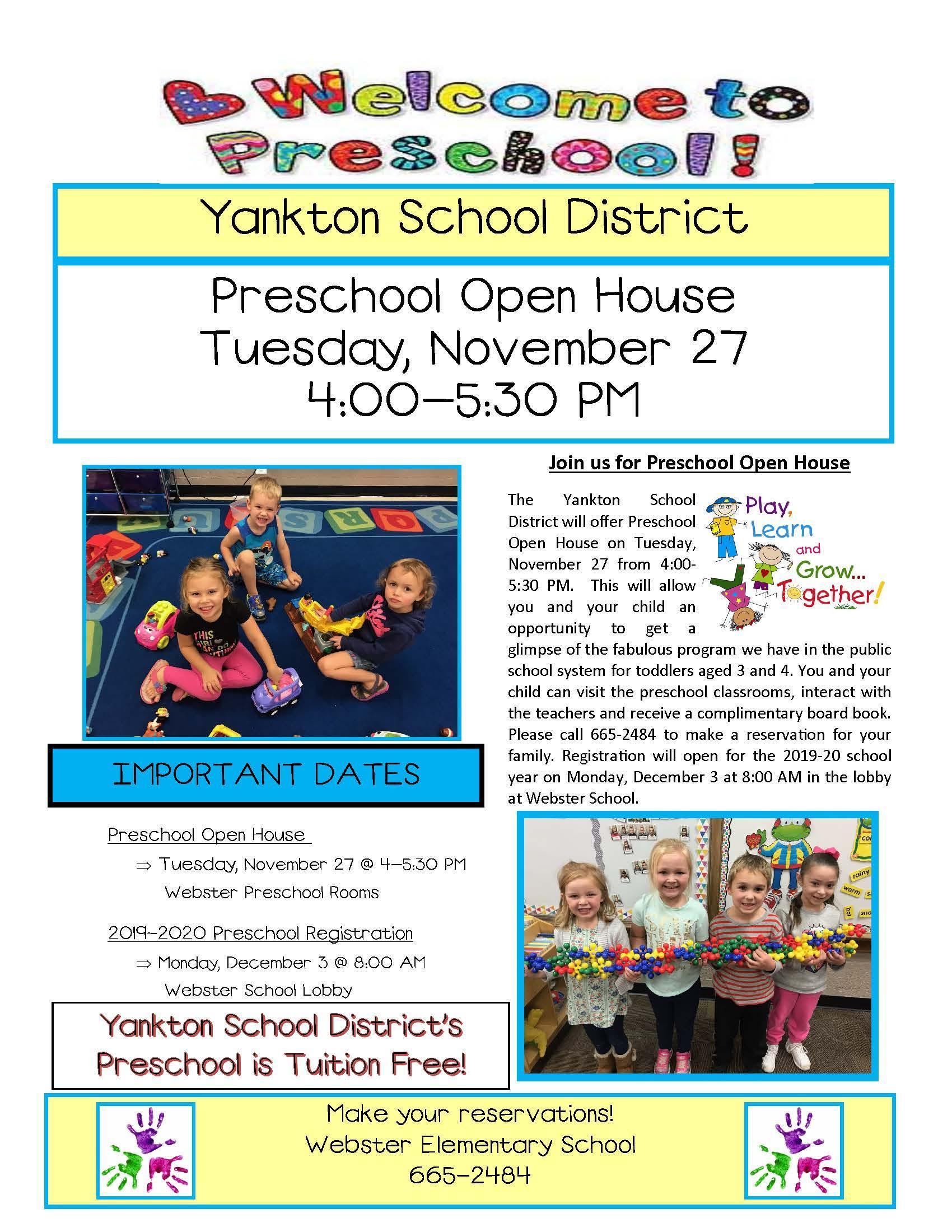 Preschool Registration