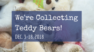 We're collecting teddy bears
