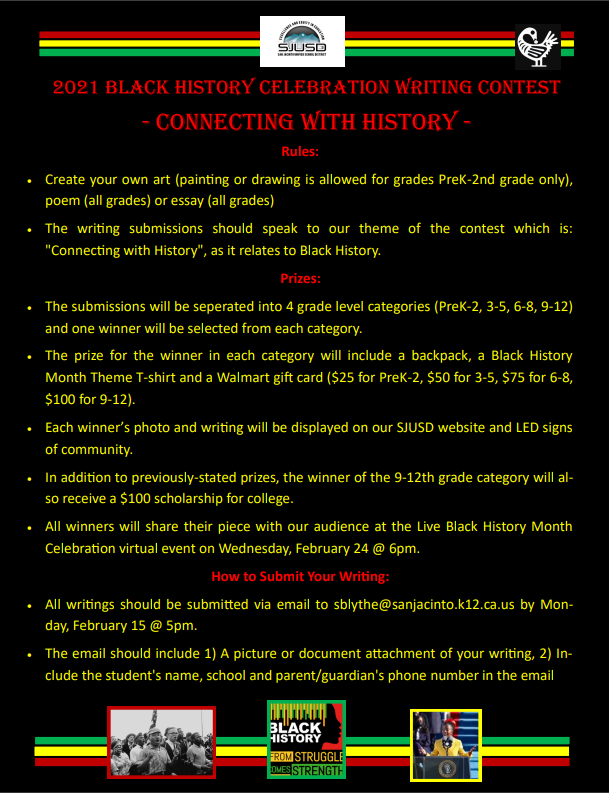 Black History Month Writing Contest