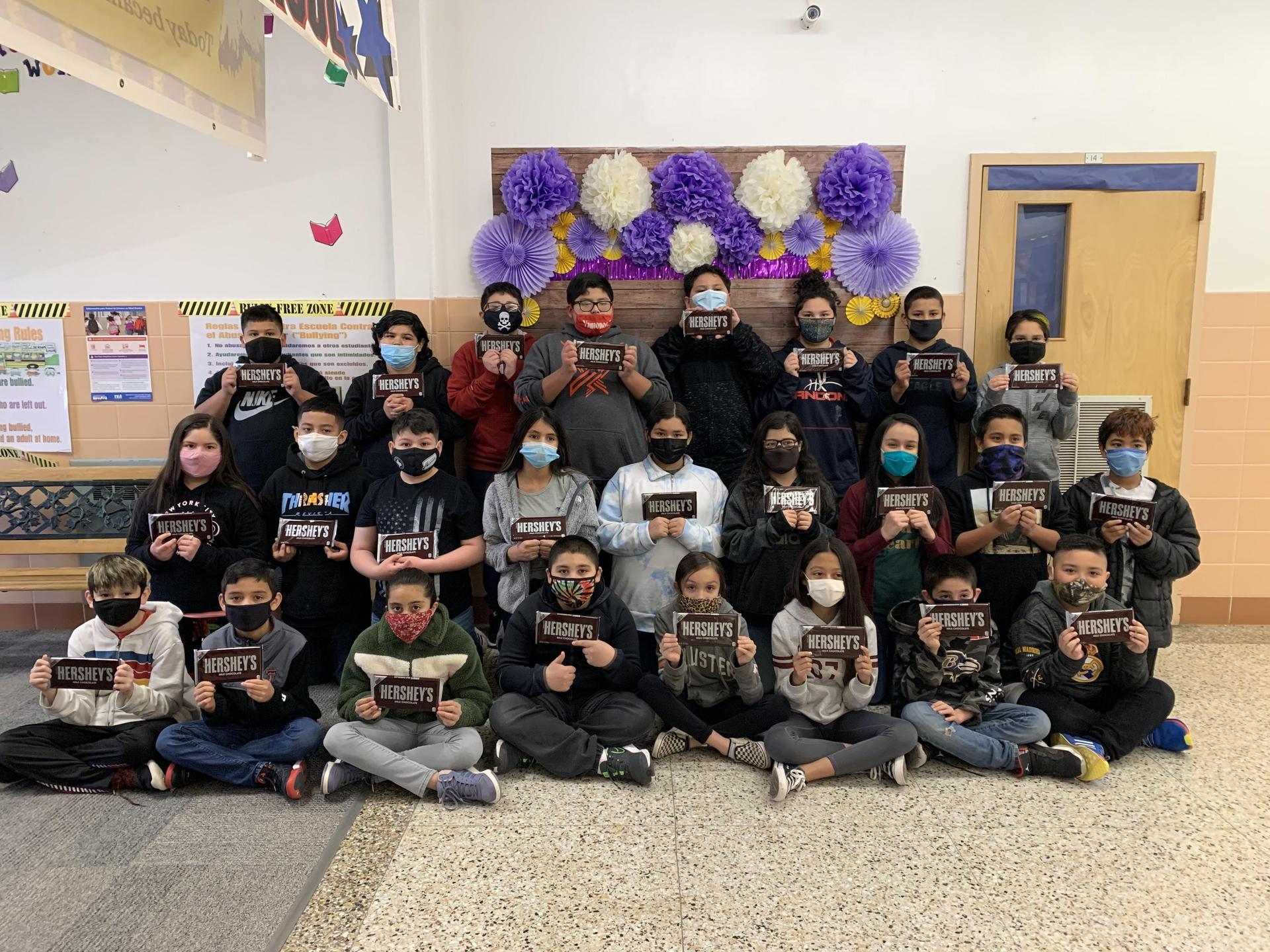 Chocolate Challenge 5th Grade Winners - Top 25 Students