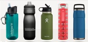 various water bottles