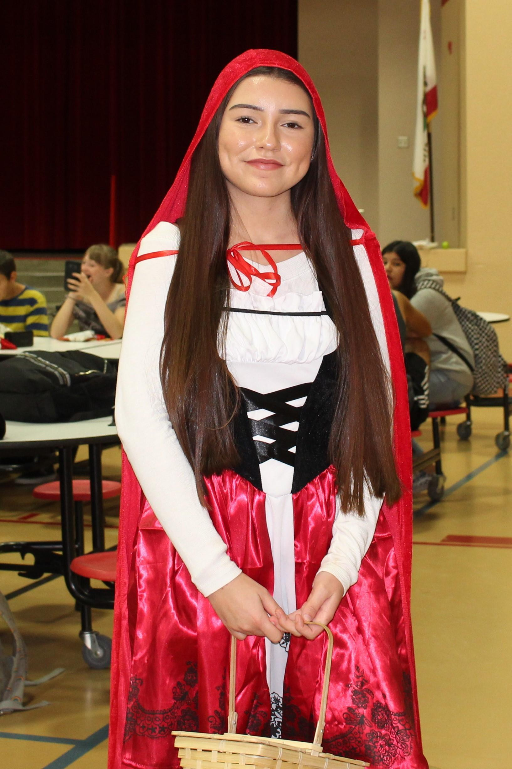 Gloria Chavez as Little Red Riding Hood