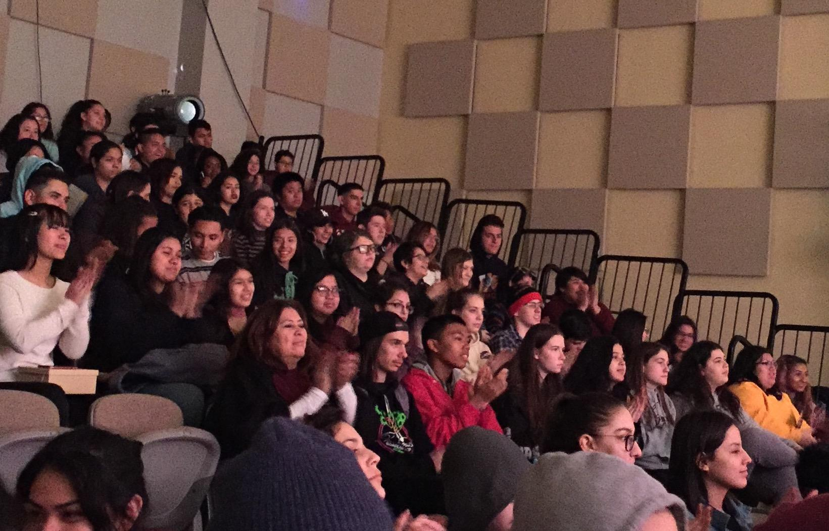 VAAS students and faculty watching the performances
