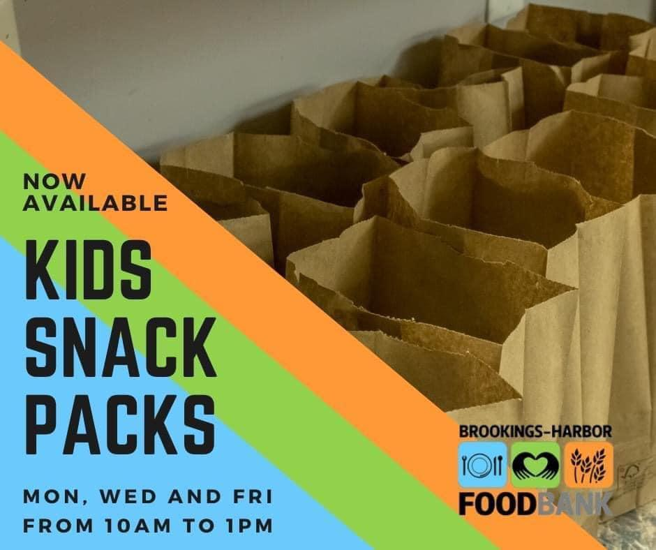 Snack Packs at the Food Bank