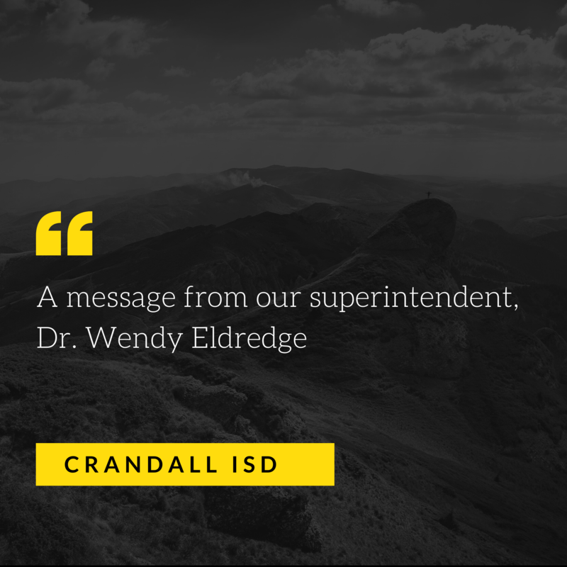 A message from CISD Superintendent Dr. Wendy Eldredge Featured Photo