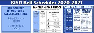 BISD 2020-2021 Bell Schedules