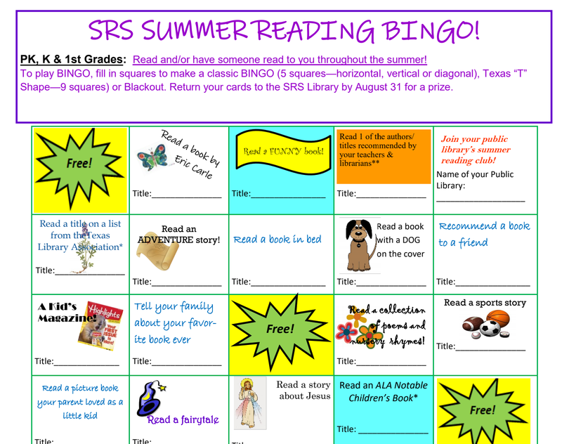 Participate in Summer Reading Bingo! Thumbnail Image