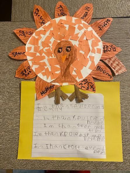 Crayon colored turkey