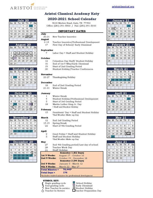 Katy Calendar