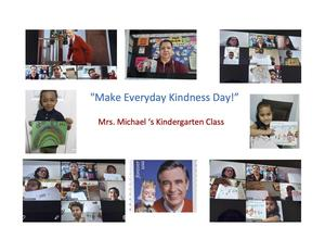 Kindness day drawings collage