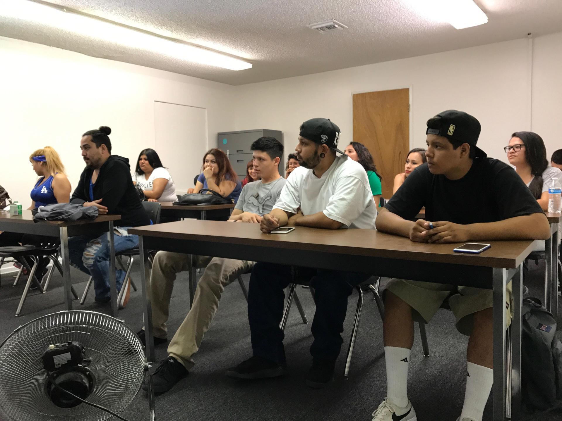 LA CAUSA students in class