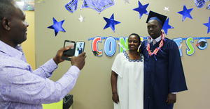 George Key school graduation ceremony on campus.